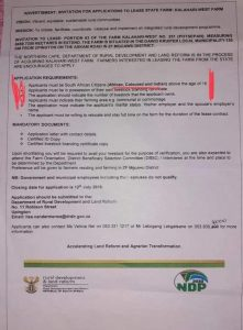 "Read very carefully!!! This is the qualifications needed to ""rent"" a farm."