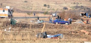 ILLEGAL LAND INVASIONS: Joburg South land grabs: Some of the land invaders were defiant, asserting their rights to land - 'We will go to war,' say residents