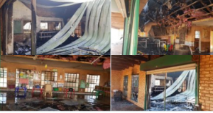 Disgruntled community members torched primary school following a protest against lack of electricity – How stupid can you be?