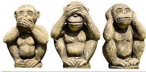 Former President Zuma and the three monkeys - hear nothing, see nothing and say nothing!