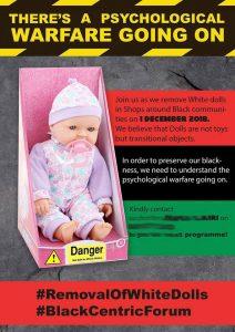 anti white doll