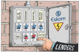 Eskom will receive a further R59bn bailout over two years from the government to keep the bankrupt power provider standing