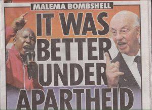 Malema apartheid