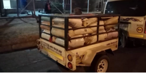 512 kg of marijuana with a street value of R12m openly transported on trailer