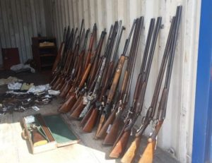 Illegal ammunition and 121 illegal firearms on a farm at Uitkyk – seem like somebody was planning a small war