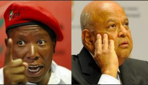"""Gordhan is mocked by EFF as """"dog of the white monopoly"""""""