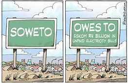 Eskom – in return for R59bn bailout from National Treasury, Eskom must recover Soweto, municipal debt