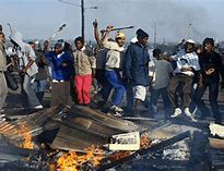 PROTESTS in SA – a prime example of barbaric conduct enforced by violent protests that destroys whatever they can find and set fire to anything that can burn
