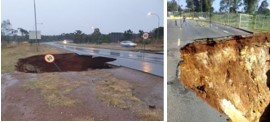 Snake Drive in Benoni near N12 will be closed for a long time due to sinkhole