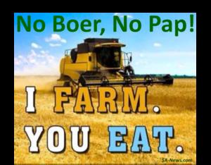 No Boer, No Pap