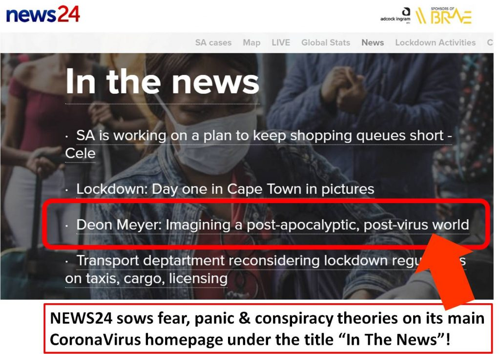 News24 spreads conspiracy and panic