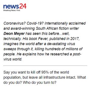 News24 spreads virus panic