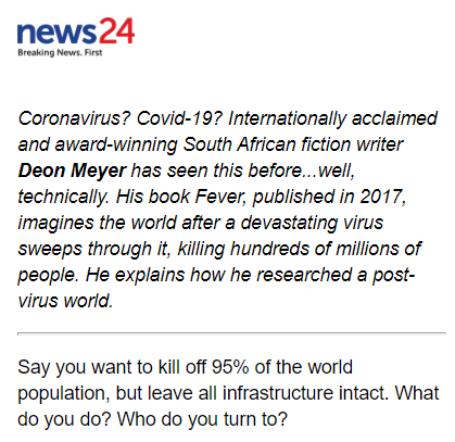 News24 spreads virus panic