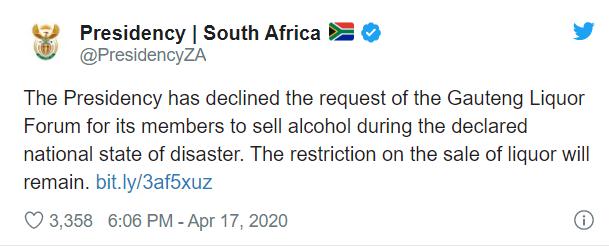 ban on liquor sales