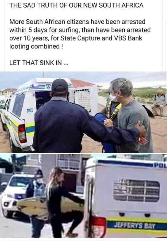 More surfers arrested than corrupt gangster officials!