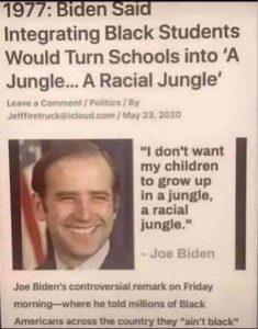 Racist Joe Biden