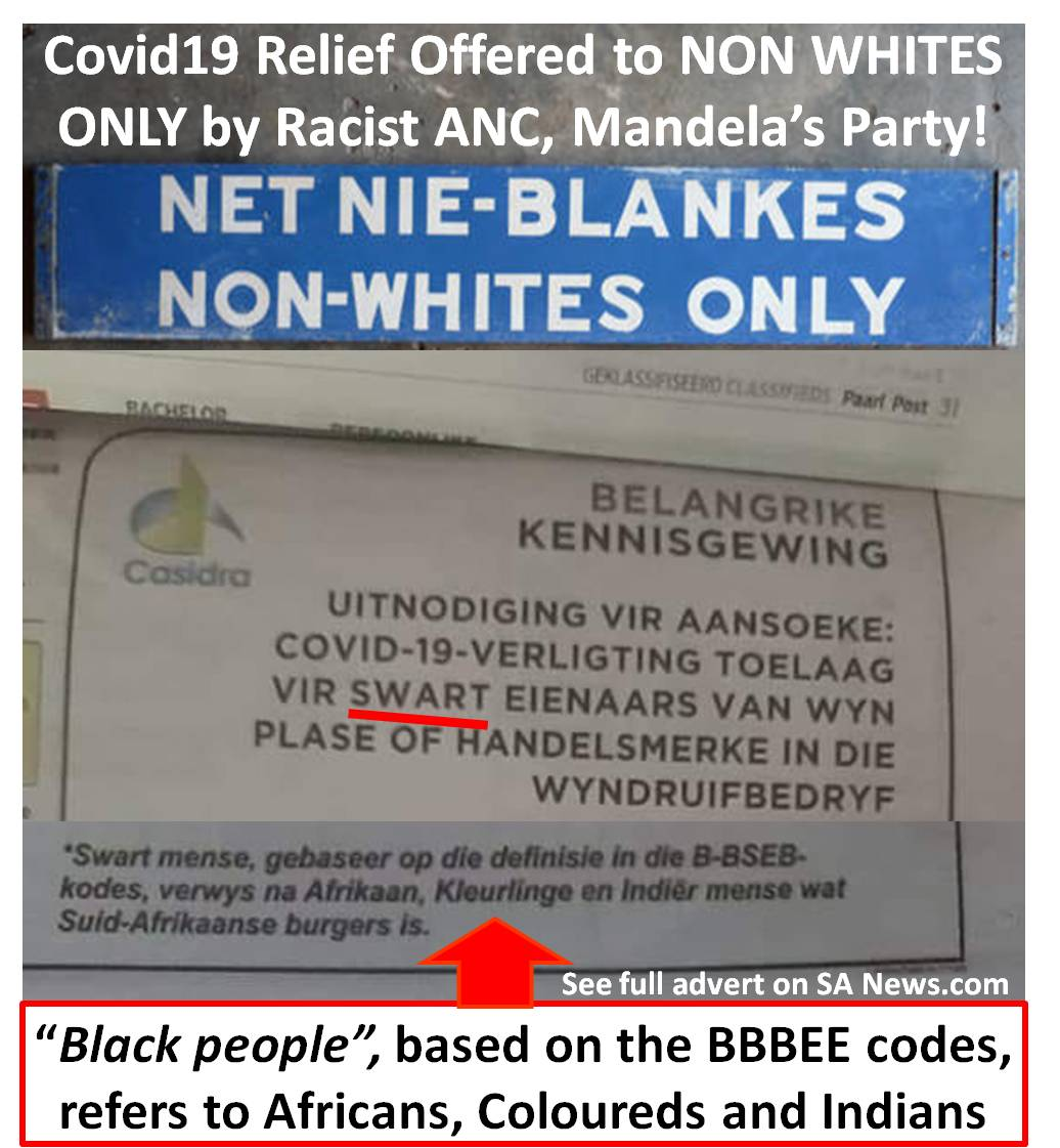 Covid19 Relief to non whites only!
