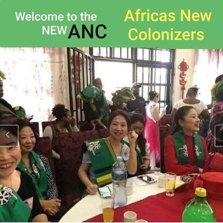 Chinese imperialism replacing ANC cadres